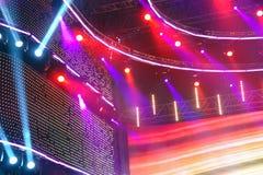 Stage lights. Closeup shot of concert stage spotlight setup stock photography