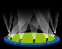 Stage lights. Illustration of spot lights used on a stage play Stock Photography