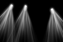 Stage lights. On black background Stock Photos