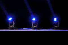 Stage lights action Royalty Free Stock Photos