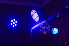 Stage lights in action at the concert. Lights show. Lazer show. royalty free stock photos