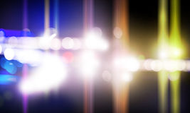 Stage lights. Background image with stage blurred lights and beams stock photos
