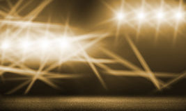 Stage lights. Background image with stage blurred lights and beams royalty free stock photography