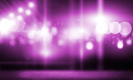 Stage lights. Background image with stage blurred lights and beams stock images