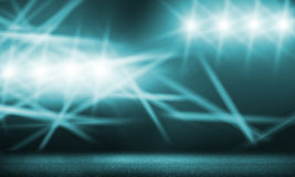 Stage lights. Background image with stage blurred lights and beams stock image