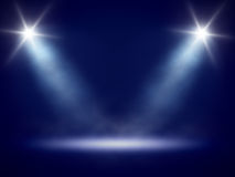 Stage lights background Royalty Free Stock Image