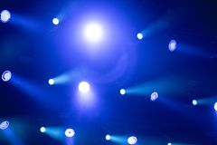 Stage lights background. During live concert stock photo