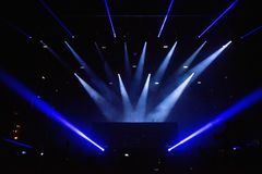 Stage lights background. During live concert royalty free stock photo