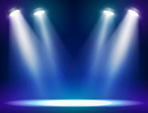 Stage lights background. For web and mobile devices Royalty Free Stock Photo
