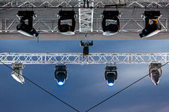 Stage lights at the concert Stock Photos
