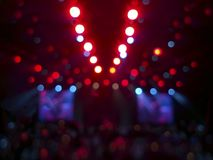 Stage lights in a concert. Of different colors. Blurred colorful background Royalty Free Stock Photo