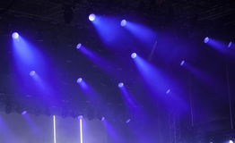 Stage lights on concert Royalty Free Stock Image