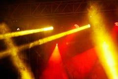 Concert light show Stock Images