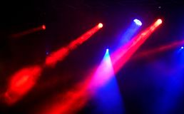 Concert light show. Stage lights on concert. Concert light show stock photo