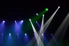 Stage lights on concert. Royalty Free Stock Images