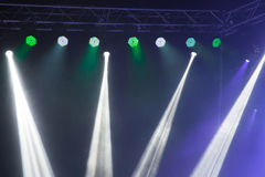Stage lights on concert. Royalty Free Stock Photos