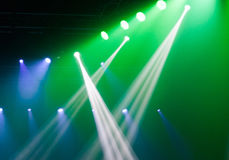 Stage lights on concert. Royalty Free Stock Photography