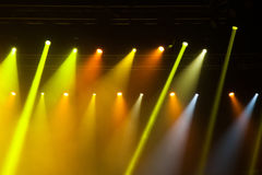 Stage lights on concert. Stock Photo