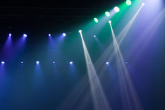 Stage lights on concert. Royalty Free Stock Photo