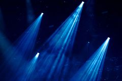 Stage lights at a concert. Stage lights at a live music concert royalty free stock images