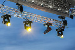 Stage lights on a console Royalty Free Stock Photography