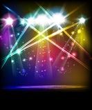 Stage Lights. Easy all editable Royalty Free Stock Photography