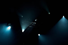 Stage Lights. Few stage lights on a black background Royalty Free Stock Photo
