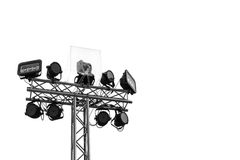 Stage lights isolated Stock Photo