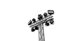 Stage lights isolated Stock Image