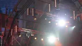 Stage lights stock video