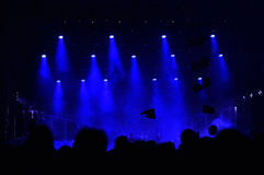 Stage lights. At a live concert stock images