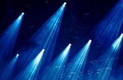 Stage lights. At a live music concert stock photo