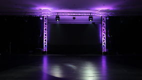 Stage and Lights stock footage