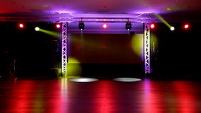 Stage and Lights stock video footage