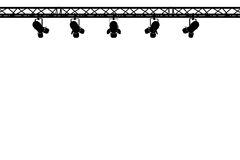 Stage lights silhouette stock illustration