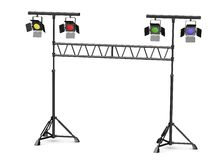 Stage lights on stands Stock Photos