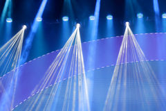 Stage lights. Theater stage with lots of stage lights or spotlights Stock Photography