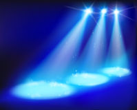 Stage lights. Vector illustration. Royalty Free Stock Photos