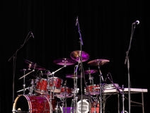 Stage Lit Drum Kit Stock Photo