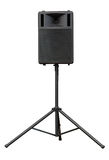 Stage loudspeaker. For concert or presentation isolated on white with clipping path stock image