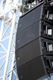Stage loudspeakers Stock Photos