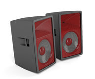 Stage loudspeakers on white. Background royalty free illustration