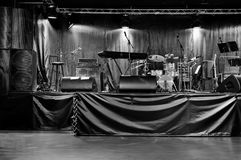 Stage With Musical Instruments Royalty Free Stock Image