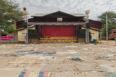 Stage in Myanmar Stock Photos
