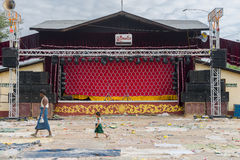 Stage in Myanmar Royalty Free Stock Photos