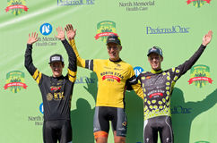Stage One Winners Atop Podium Royalty Free Stock Image