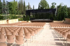 Stage, open-air auditorium, Alhambra, Granada, Spain Royalty Free Stock Photography