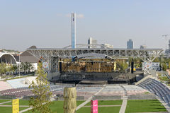 Stage of open air theatre, EXPO 2015 Milan Stock Photo