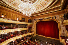 Stage of the Opera House in Riga Royalty Free Stock Image