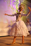 Stage performance of upscale restaurant the summer palace dancers dance show of the ensemble group style. Stock Photos